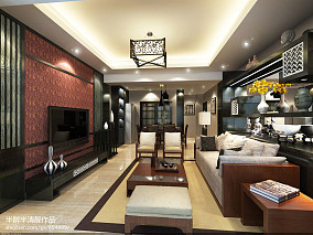 中式客厅装修欣赏图片
