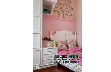 华丽121平美式三居儿童房装饰图片