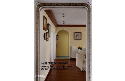 精致90平美式三居客厅设计效果图
