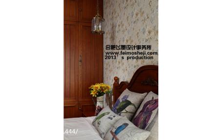 精选100平米三居卧室美式装修设计效果图
