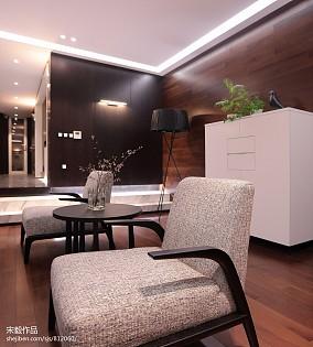2018面积122平复式客厅现代装修图