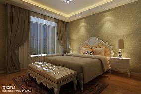 精选面积90平欧式三居卧室装修图