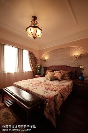精美面积135平别墅卧室美式设计效果图