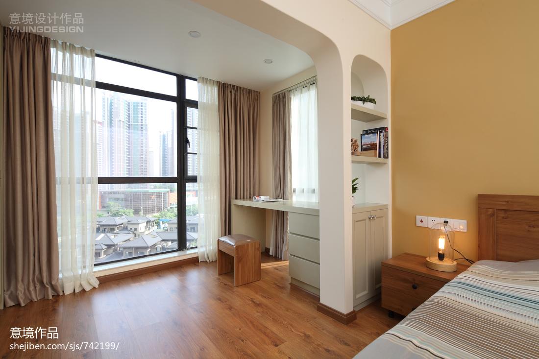 现代简约风卧室隔断书桌装修效果图大全现代简约设计图片赏析