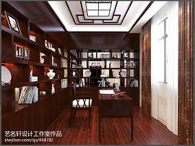 2018四居书房中式装修效果图片欣赏