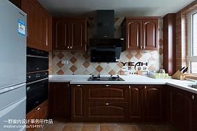 精美面积107平美式三居厨房装修欣赏图片