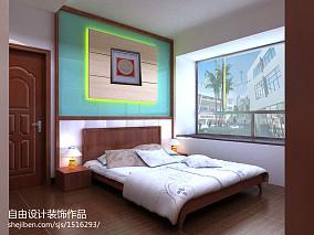 热门109平米三居卧室中式装饰图