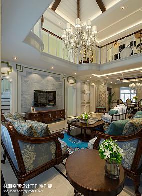 2018130平米混搭复式客厅装修设计效果图