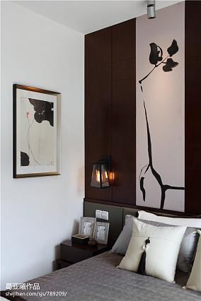 中式风格小户型卧室照片墙装修效果图大全2017图片