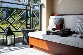 优雅31平中式小户型设计美图一居中式现代家装装修案例效果图