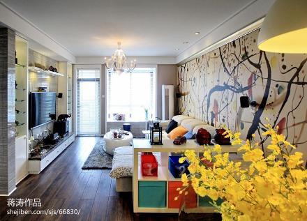 精选79平方二居客厅现代欣赏图片