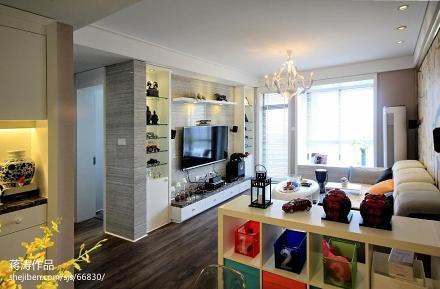 85平米二居客厅现代装修图片欣赏