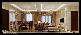 107平米三居客厅欧式装修图片欣赏