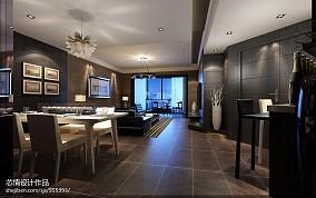 热门100平大小客厅三居现代装修效果图片大全