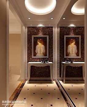 中式三居玄关装修效果图片欣赏