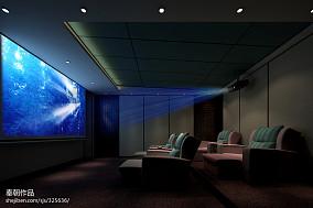 苏州别墅中式视听室装修效果图