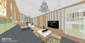 欧式简约三居室室内客厅装饰设计图片