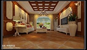 热门101平米三居客厅田园装修设计效果图片欣赏