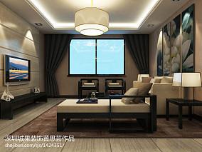 2018精选99平米三居客厅中式装修欣赏图片大全