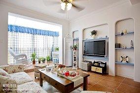 热门131平米地中海复式客厅装修实景图片大全