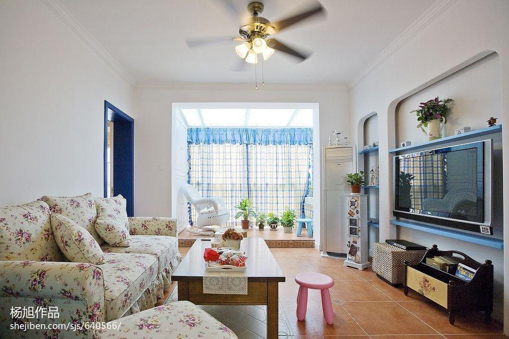浪漫地中海风格客厅隔断设计客厅地中海客厅设计图片赏析