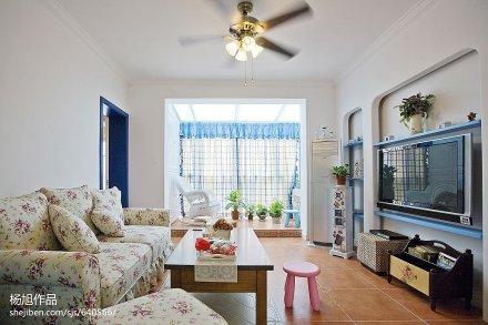 浪漫地中海风格客厅隔断设计客厅1图