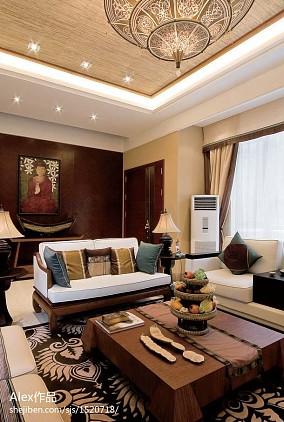 精美东南亚客厅效果图片