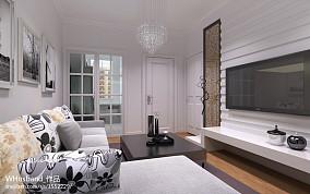 2018精选85平米现代小户型客厅装饰图
