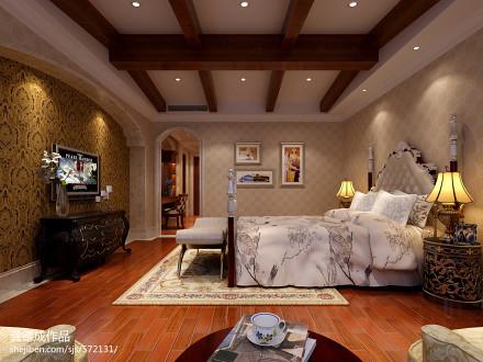 精美136平方欧式别墅卧室装修效果图片大全卧室