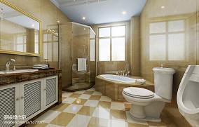 热门面积114平别墅卫生间欧式效果图片欣赏