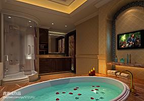 热门面积131平别墅卫生间美式装修图片大全卫生间美式经典设计图片赏析