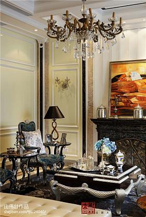 精美133平米欧式别墅客厅装修实景图片大全