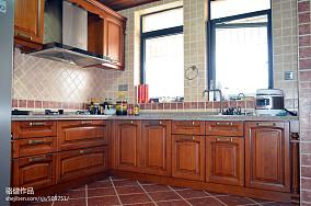 精美面积121平复式厨房田园装修实景图片