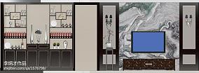 现代风格三居室吧台装饰设计图片