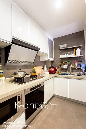 精选79平米现代小户型厨房装修效果图片