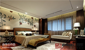 精选125平米中式别墅卧室装修实景图片