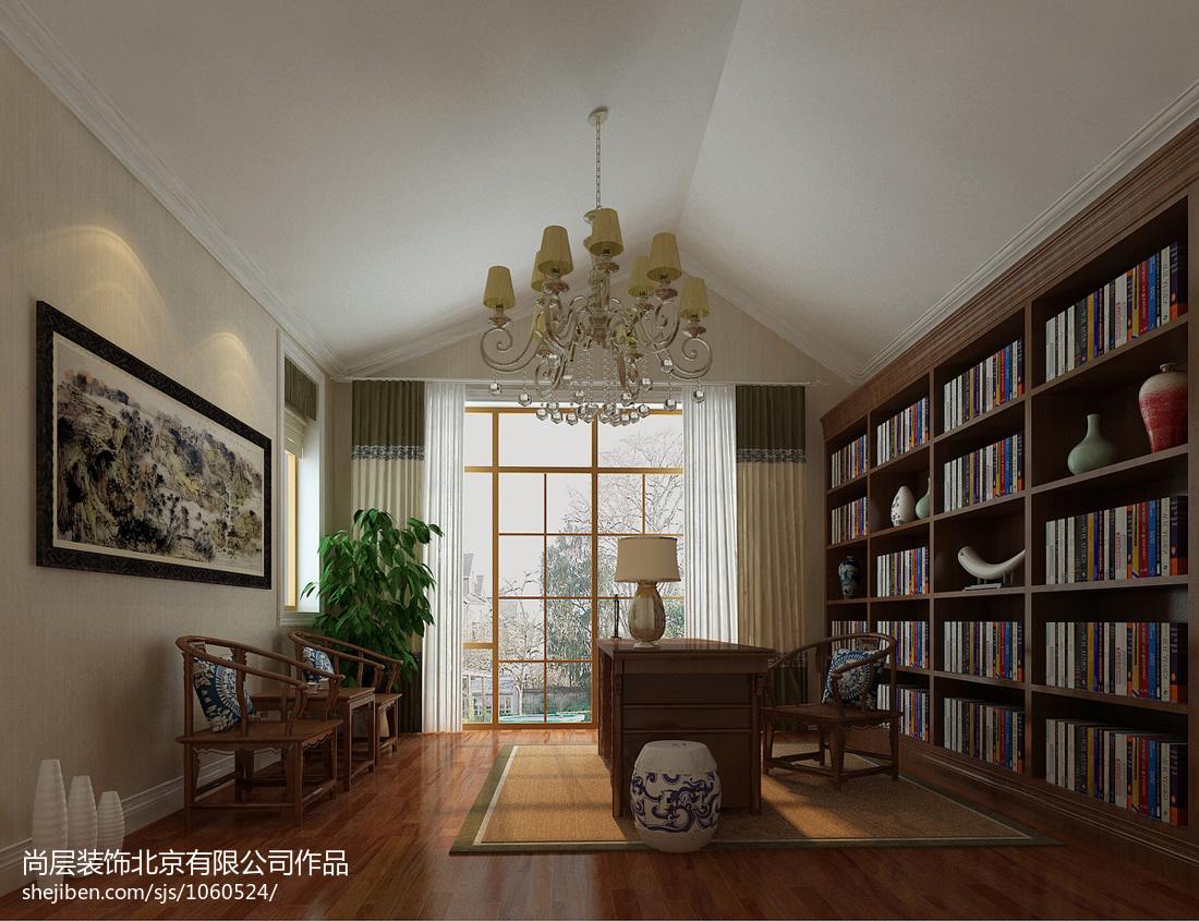 别墅书房装修实景图