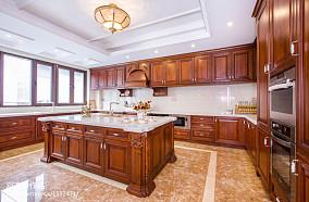 热门面积117平别墅厨房欧式装修实景图片欣赏
