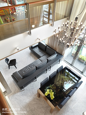 2018精选面积144平复式客厅现代装饰图片欣赏