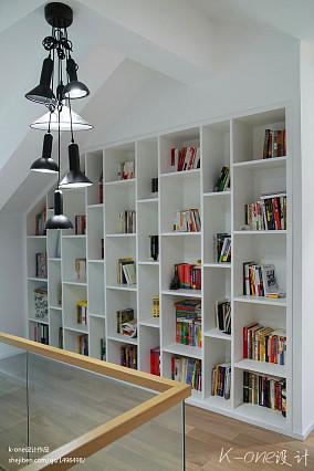 大气82平现代复式书房装潢图