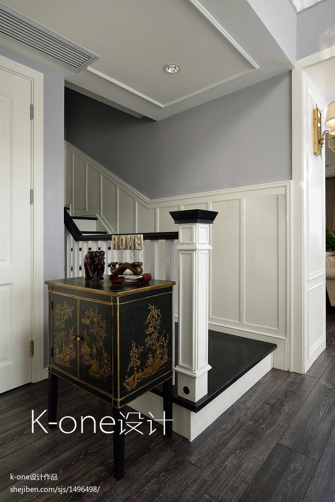 平美式别墅装修美图玄关美式经典玄关设计图片赏析