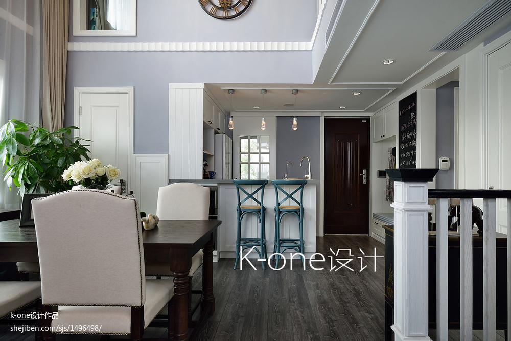 华丽331平美式别墅图片大全厨房门美式经典餐厅设计图片赏析