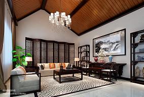 热门面积142平复式客厅中式欣赏图片大全