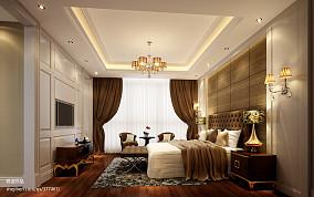 复式卧室欧式水晶灯设计图片