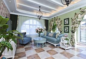 精选139平米地中海别墅客厅实景图片
