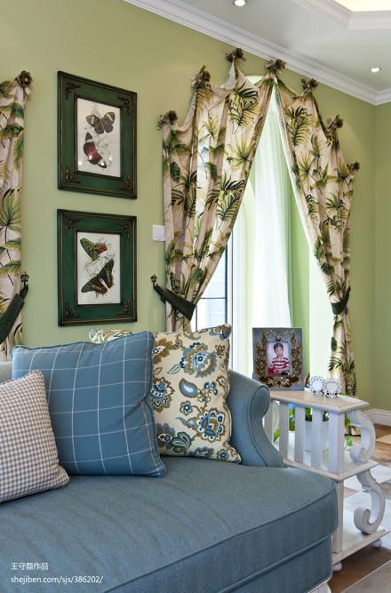 精选面积115平别墅客厅地中海效果图片欣赏客厅
