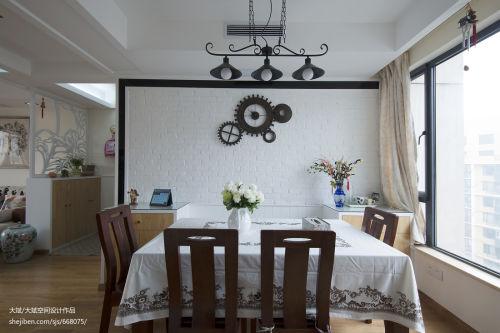 热门92平米三居餐厅现代欣赏图片大全厨房窗帘三居现代简约家装装修案例效果图