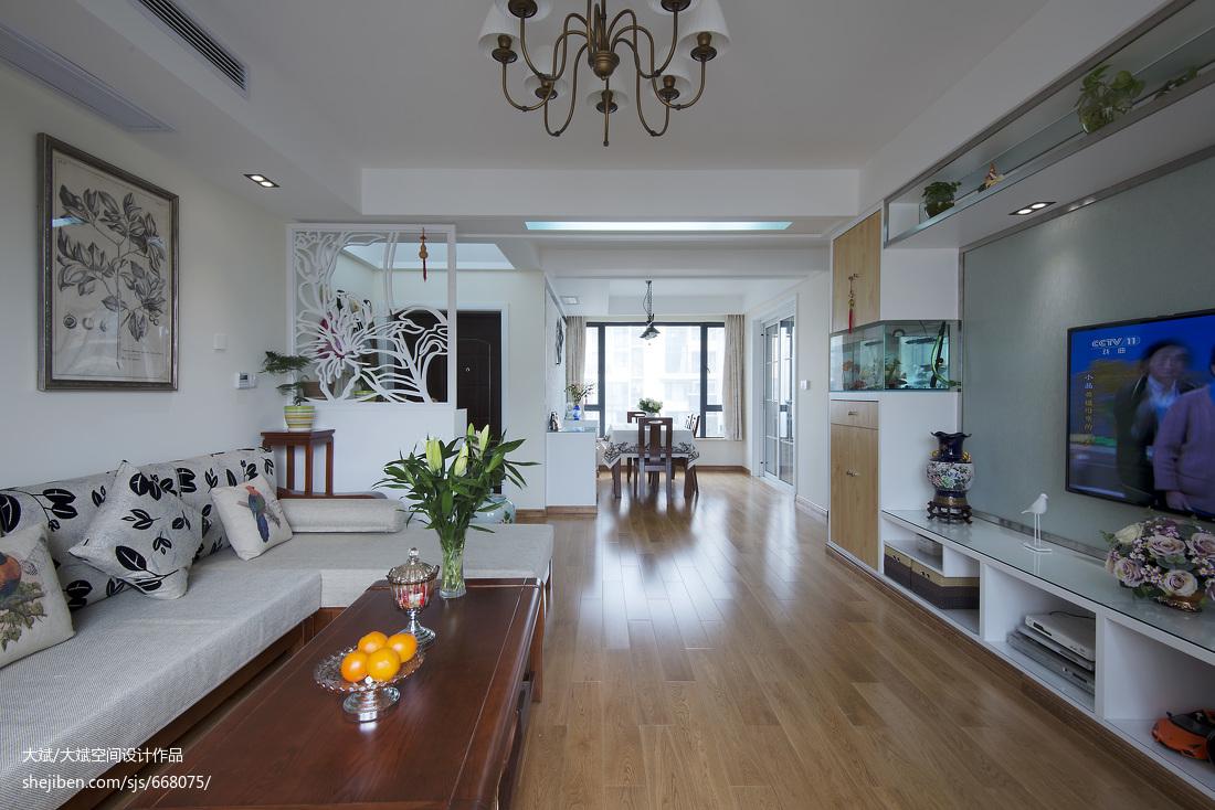 现代客厅镂空雕花隔断装修效果图大全2017图片客厅