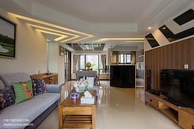 热门93平米三居客厅地中海装修效果图