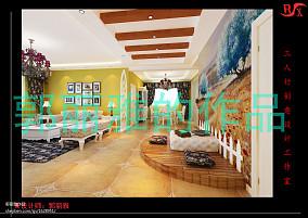 精选98平米三居客厅田园装修欣赏图片大全